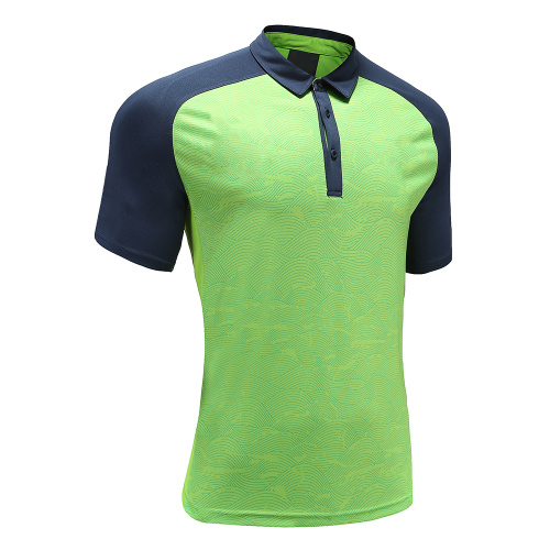 Polo Homme Dry Fit Rugby Wear Vert