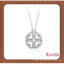 Unique design layer crystal heart pendant necklace bangladeshi wedding jewelry