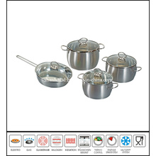 8PCS Stainless Steel Belly Shape Cookware Set