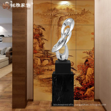 Home decoration crafts custom electroplated resin large statue for office decor