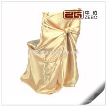 100% Polyester Bunte Satin Stoff Customized Falten Free Stuhl Abdeckung