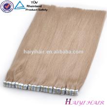 Extensiones de pelo de cinta rubia grueso dibujado doble más populares del doble