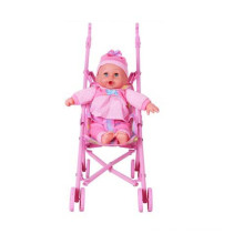 Funny Plastic Baby Doll Stroller with Doll