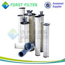 Filtros de bolsa plisados, filtros de bolsas lavables, filtros de bolsas para polvo de cemento