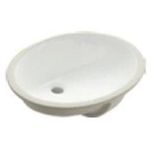 Lavabo de salle de bain sous le comptoir en céramique