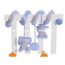 Factory Supply Infant Baby Bed Plush Spiral Toy