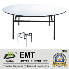 Hotel Banquet Table with Foldable Strong Metal Frame (EMT-FT602)