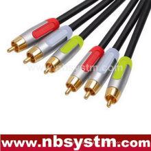 Bauteil Typ A / V Verbundkabel 3xRCA Stecker auf 3xRCA Stecker rot / weiß / gelb