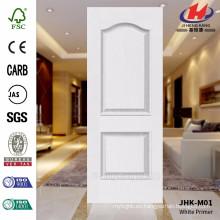 JHK-M01 modelo moderno grabado en relieve de superficie lisa blanco Primer molde de piel de puerta de alta calidad