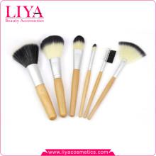 Профессиональная деревянная ручка 6 штук лучший продавец макияж кисти комплект