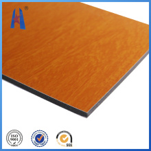 Good Price Fireproof Aluminum Composite Panel Wooden Color
