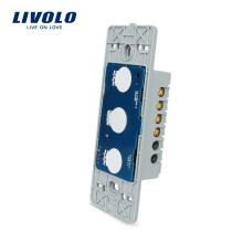 Livolo Стандарт США, сенсорный дистанционный переключатель без стеклянной панели, 1 группа, 1 контакт, AC 110 ~ 250 В + светодиодный индикатор, VL-C501SR