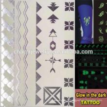 OEM Wholesale lueur dans la marque de tatouage sombre marque des tatouages temporaires tatouage temporaire Sticker pour adultes GLIS005