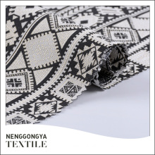 Custom logo high quality beautiful yarn dyed quality jacquard dress fabric