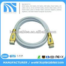 Nouveau 15Ft V1.4 HDMI 3D M à M Câble En alliage de zinc En métal avec connecteur en or