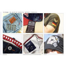 Customized Embossed Custom Black Clothing Label Jeans Real Leather Patch