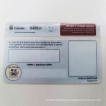 UV Security Printing Driver License Card