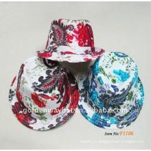 Mode trilby bon marché chapeau fedora mélange couleur captif nouveau design mode pour fête