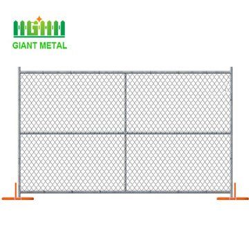 6%27x12%27+Galvanized+Temporary+Chain+Link+Fence+Panel+Stand