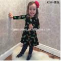 2017 Оптовая красочные Рождественская Елка напечатаны детские Cothing девушки платья в наличии Товары для детей девушка платье