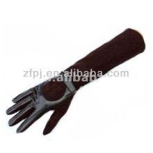 Schwarz Braun Farbe Ellenbogen Länge Wildleder lange Handschuhe