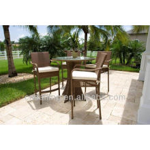 Hot Sell Rattan High Top Table Et Chaises