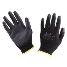 CER-schwarze Polyurethan-Palmen-Beschichtungs-Nylonnahtlose gestrickte Handhandschuhe