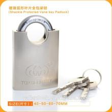 Esencial de Seguridad Nickle Plated Shackle Protected Vane Key Candado