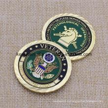 Монета из мягкой эмалированной металлической арки для коллекции