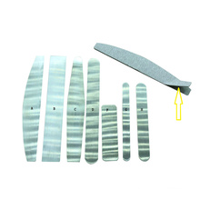 Customized Emery board Replaceable zebra nail file 80/100/150/180/240 double side OEM