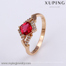 11824- Xuping Elegant Hot Jewelry Ladies Gold Finger Ring Jewelry