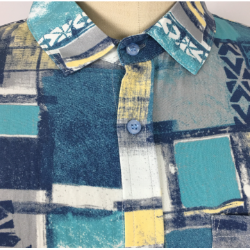 Neues Design Custom Checked Aquarell Bedrucktes Shirt
