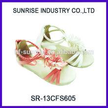 SR-13CFS605 2014 sandalias de moda para las sandalias planas de las muchachas de los adolescentes las últimas sandalias de las muchachas de la manera