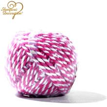 Оптовые декоративные 2 нитка хлопок витой шнур
