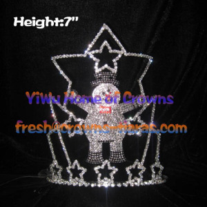 7inch Snowman Crystal Christmas Pageant Crowns