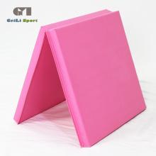 Tapis de gymnastique épais en PVC rose doux