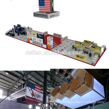 Detian offer big exhibition portable vape booth display