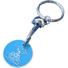 Metal Trolley Coin Keychain for Gift