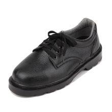 Óleo leve e resistência ao deslizamento couro aço toe homens sapatos de segurança do trabalho