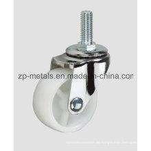 Light-Duty-weiße PP-Schraube ohne Bremsrollenrad