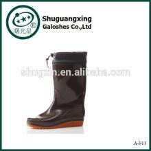 Прочного ПВХ мужчины безопасности обуви мужчины моды Сапоги ПВХ дождя сапоги человек дождя сапоги A-911
