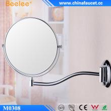 Round Extendable Chrome Double Sided Bathroom Mirror
