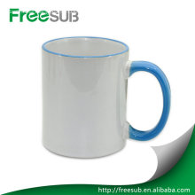 Rim handle color mug custom photo mugs