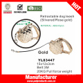 Correa de perro retráctil de oro de color (yl83447)