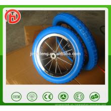 Rueda de bicicleta del niño de la espuma de la PU de 12/14 pulgadas de la aleación, rueda de bicicleta del niño, rueda del portador de bebé