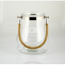 Lanterna de vidro grande e bonita