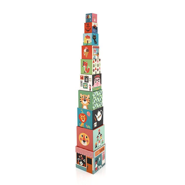 Kids Educational Toys Stacking Nesting Paper Cardboard Building Blocks