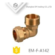 EM-F-A142 Femelle raccord rapide en laiton coudé raccord pour tuyau en pvc