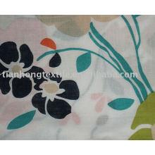 100 % Baumwolle gewebt gedruckt Drucken Vorhang Stoffblume