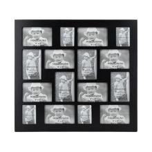 Черная коллажная рамка с 16 отверстиями